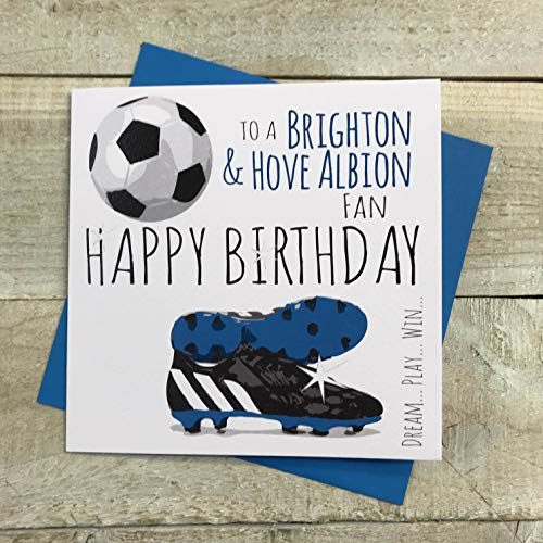 Brighton and Hove Albion Football Card - by WHITE COTTON CARDS 46