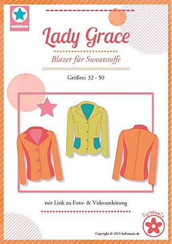 Farbenmix Lady Grace Schnittmuster (Papierschnittmuster für die Größen 34-50) Sweatblazer