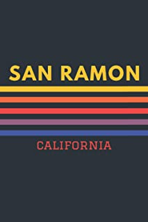 San Ramon California: Lined Journal 6 x 9 for writing down Daily habits, Notebook, Diary (San Ramon Vintage Themed Book)