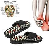 Zapatillas de masaje, sandalias de masaje con 41 puntos de acupresión para mujeres y hombres, rotación de 180 °, pantuflas de masaje de pies, el cuidado de los pies