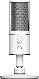 Razer Seiren X Mercury Professional-Grade High-Definition Studio Sound USB Digital Condenser Microphone, Optimized for Str...