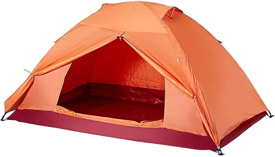 Tentes De Camping en Plein Air, Manuelle Double, Taille 205  130  105cm, Orange