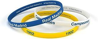 Pulsera Real Madrid Club de Fútbol Classic Tricolor Junior para Mujer y Niño, Pulsera de Silicona, Producto Oficial