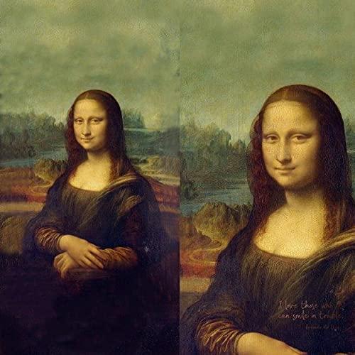 Stenzo Stoff Panel Mona Lisa von Leonardo da Vinci Baumwolle Jersey 200cm x 150cm