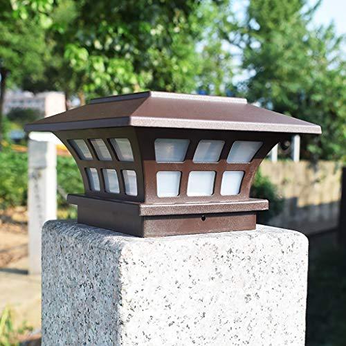 Hahuha Sonnenlicht, Solar Lampe Säulenkopflicht Außen wasserdicht dekorativ Innenhof weiß 1LED, LED-Licht