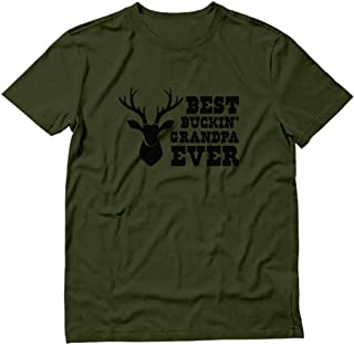 Hunter Papa - Best Buckin' Grandpa Ever - Funny Hunting Gift for Grandpa T-Shirt