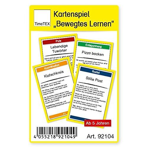 """TimeTex Kartenspiel""""Bewegtes Lernen"""" im Etui"""