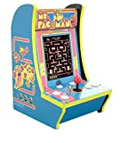 """Ms Pacman Arcade 1 Counter-Cade Top Real Feel Arcade Controls! 15.75"""" High Includes Power Adapter, Instructions, and Ms. Pac-Man 1 Up Arcade"""