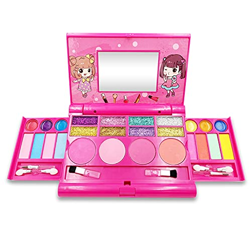 Maquillage Enfant Fille Bio Lavable, Palette Maquillage Enfant Bio, Palette de Maquillage pour Enfants, Le Cadeau de Maquillage idéal pour Fille Princesse, Convient aux Filles âgées de 5 à 10 Ans