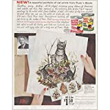 RelicPaper 1961 Puss n Boots Cat Food: Cat Folio, Coast Fisheries Print Ad