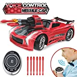 Seckton Smart Voice Remote Control Cars, Best Birthday Gifts for Boys Girls Age 6 Up, 2.4GHz Fast Race Stunt RC Car for Kids, Model Vehicle with Cool Sound & Light, Toys for 7-12 Year Old Boy-Red