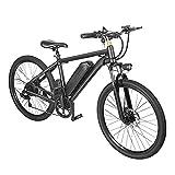 Bicicleta eléctrica para adultos de 7 velocidades, batería de 36 V/10 Ah, motor sin escobillas de 350 W, kilometraje de 35 km/60 km en modo PA, neumáticos de 26 pulgadas, velocidad máxima de 30 km.