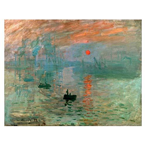 Legendarte Cuadro Lienzo, Impresion Digital - Impresion. Sol Naciente Claude Monet, cm. 80x100 - Decoracion Pared