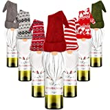 7 Pieces Christmas Gnomes Wine Bottle Topper Cover Swedish Tomte Decorative Wine Bottle Topper Cover for Christmas Party Decorations