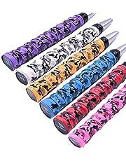 Biluer 6PCS Tennis Grips Raqueta Grips Bádminton Grips Squash Grips Cinta Antideslizante,para Raqueta de Bádminton Tenis Deportes 6 Colores