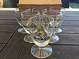 Ricard Gläser mit Sonnenmotiv, 6Stück