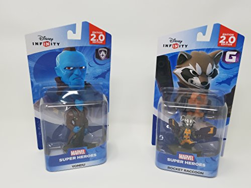2 Item Bundle: 1 Disney Infinity Marvel Super Heros Yondu figure and 1 Disney Marvel Super Heroes Rocket Raccoon
