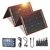 DOKIO ソーラーパネル 160w セット 折りたたみ式 単結晶 太陽光発電キット USB(18V)出力端子 防災グッズ/車中泊/キャンプ