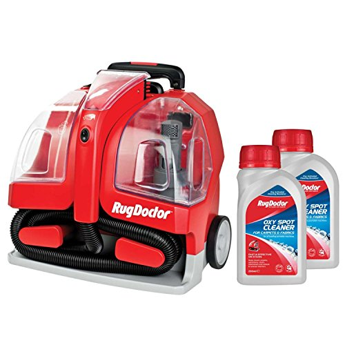 Rug Doctor 1.9L Portable Spot Red Carpet Cleaner with 2 x 250ml Spot...