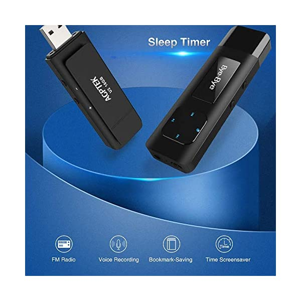 Clip MP3 Player with USB Flash Drive, Metal Lossless Music Player Supports FM Radio Recording Independent Volume Control, Black 5
