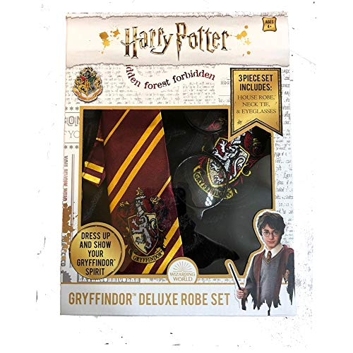 Jerry Leigh Modern Hero Harry Potter 3PC. Gryffindor Deluxe Robe Set | Robe | Necktie | Eyeglasses