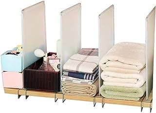 Lot de 4 séparateurs d'étagères de placard, organiseurs de vêtements, étagères et séparateurs de placard, étagères de plac...