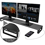 Large Dual Monitor Stand for Computer Screens -...