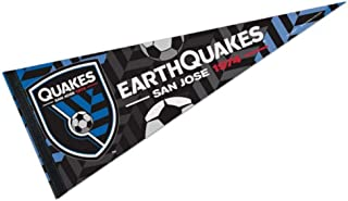 Professional Soccer Teams and Football Clubs Flag Banner Pennants, 12 x 30 in, Soft and Durable (San Jose Earthquakes)