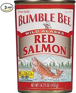 Bumble Bee Alaska Sockeye Red Salmon, 14.75 oz (3 Cans)