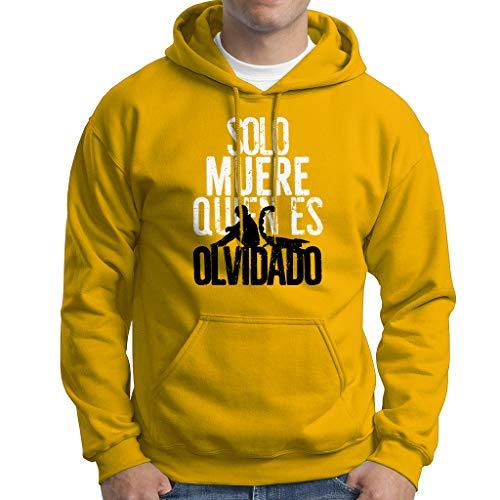 Vis a Vis Solo Muere - Sudadera con Capucha Hombre - 50% Cotone (XL, Amarillo)