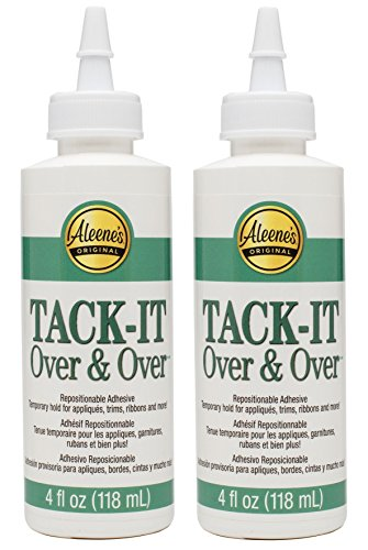 Aleene's Tack-It Over & Over 4oz (2-Pack) - with how-to guide (copyrighted material)