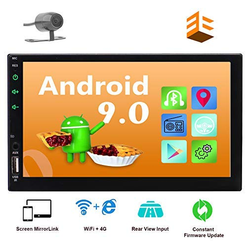 EINCAR Android 10.0 Car Stereo with GPS Navigation Double 2 Din in Dash Head Unit Bluetooth 4.0 7'' Capacitive Touchscreen Rear View Camera Included Quad Core WiFi 4G FM AM RDS Radio +Remote Control
