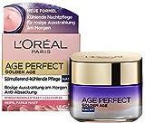 L'Oréal Paris Age Perfect Golden Age kühlende Nachtcreme mit Neo-Calcium & Pfingstrosen-Extrakt, für rosig-frischen Teint, Anti-Age Gesichtspflege für reife Haut, 50ml