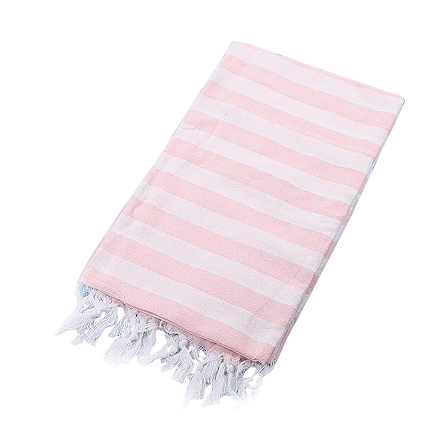 HJuyYuah Turkish Cotton Bath Beach Spa Sauna Yoga Fringed Jacquard Towel