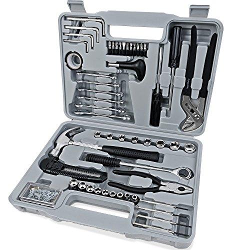 Monzana Werkzeugset 141 tlg. Werkzeugkasten Werkzeugkiste Werkzeugsatz Werkzeugkoffer Werkzeugbox Haushalt Heimwerker