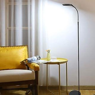 Lampadaire LED pour chambre à coucher, Fornorm 10 W 4000 K Lampadaire sur pied avec interrupteur à pied, câble de 2 m, têt...