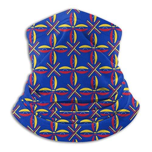 WH-CLA Calentador De Cuello Bandera De Textura De Venezuela Sombreros Multifuncionales Protección Solar Polaina para El Cuello Pañuelos Deportivos Polvo Al Aire Libre Festivales Motocicl