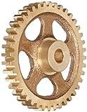 Boston Gear G240 Spur Gear, 14.5 Pressure Angle, Brass, Inch, 16 Pitch, 0.375' Bore, 3.625' OD, 0.313' Face Width, 56 Teeth