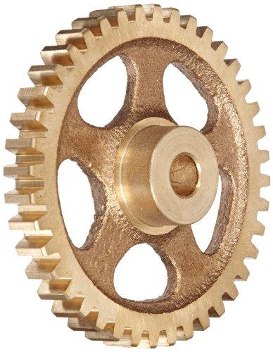 Boston Gear G228 Spur Gear, 14.5 Pressure Angle, Brass, Inch, 16 Pitch, 0.250' Bore, 0.75' OD, 0.313' Face Width, 10 Teeth