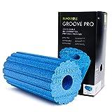 blackroll groove pro, rullo per auto-massaggio unisex-adulto, azzurro, 15 x 15 x 30 cm