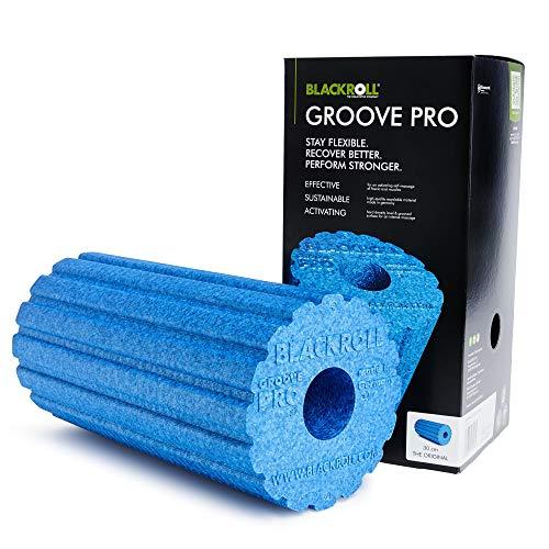 Blackroll Groove PRO Massagerolle Blau, 30 cm