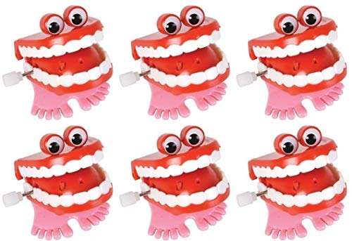 Product Image of the Wind Up Chatter Teeth with Eyes - 12 pack