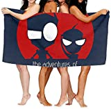 Bath Sheet Invader Zim Adventures of Zim and Gir Bath Towel Large Microfiber Soft Adult Swimming Towel Suitable for Outdoor Beach Travel 80×130 cm