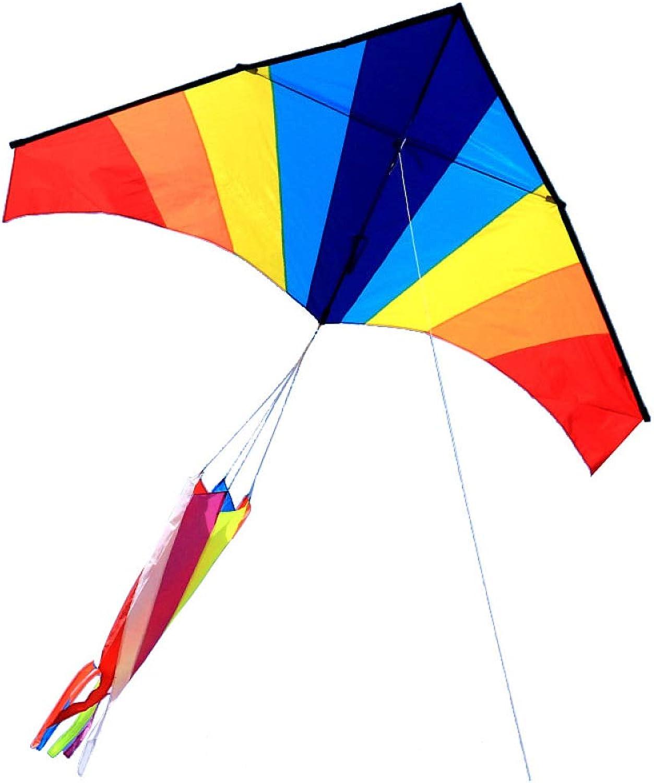 FZKJJXJL Weifang-Drachen Klassischer Regenbogen-Dreieck-Drachenspieler-Wahlbrise Einfach Zu Fliegen,Kite+400 Meter Line
