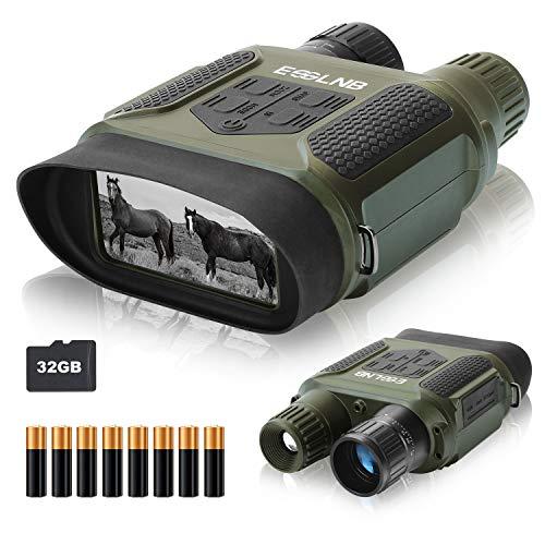 ESSLNB Binocolo Visione Notturna 7x31 Visore Notturno Caccia con 32GB TF Carta 8 AA Batterie 4