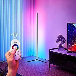 TBOYUAN RGB Floor Lamp, Corner Floor Lamp with Remote Control, RGB Colour Changing Standing Lights, Nordic Minimalist Livi...
