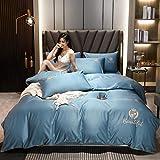 Goodlife-1 Sábanas De Verano Conjuntos de Tapa de Seda Satinada - Soft Luxury Silky 4 Pieza Cubierta de- Tema DE LA Temporada-Cielo Azul_Traje de 4 Piezas de Hoja de Cama de 200cm