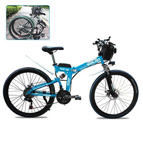 YXYBABA Bicicleta Eléctrica Plegable 26 Pulgadas, 21 Marchas Shimano, con Batería De...