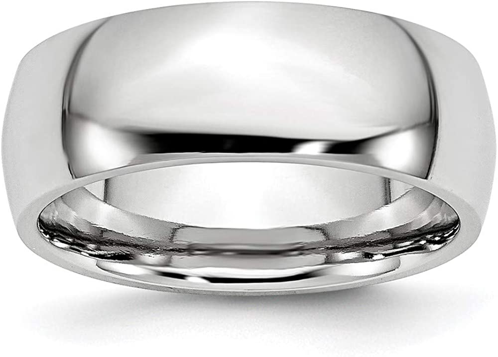 ICE CARATS Cobalt 8mm Half Round Wedding Ring Band Classic Domed Fashion Jewelry for Women Gifts for Her
