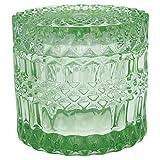GreenGate Glas Dose Schale Schmuckdose mit Deckel Aufbewahrungsglas grün 8,5 x 9 cm